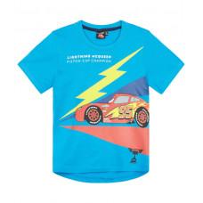 Chlapčenské tričko letné Cars tyrkysové