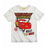 Tričko Disney Autá s krátkym rukávom biele č.116