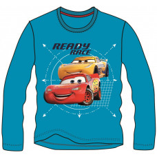 Chlapčenské dlhé tričko Cars tyrkysové