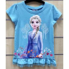 Tričko Disney Frozen modré s krátkym rukávom