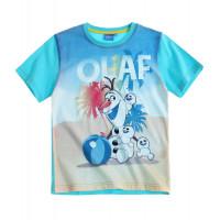 Tričko chlapčenské Disney Olaf bledo modré s krátkym rukávom č.116