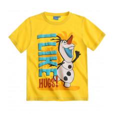 Tričko chlapčenské Disney Olaf s krátkym rukávom žlté
