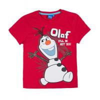 Tričko chlapčenské Disney Olaf letné červené