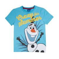 Tričko chlapčenské Disney Olaf letné bledo modré