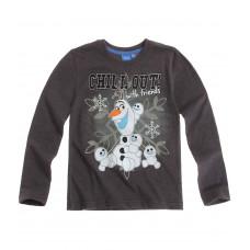 Chlapčenské Olaf tričko s dlhým rukávom šedé