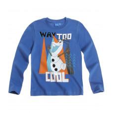 Chlapčenské Olaf tričko s dlhým rukávom bledo modré č.110