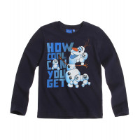 Chlapčenské Olaf tričko s dlhým rukávom tmavo modré