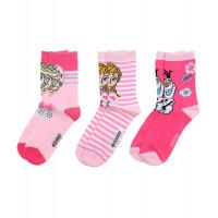 Dievčenské ponožky Disney Frozen 3 kusy v balení svetlé