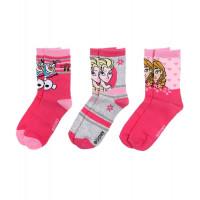 Dievčenské ponožky Disney Frozen 3 kusy v balení tmavšie