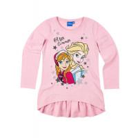 Ľadové kráľovstvo dievčenská tunika ružová