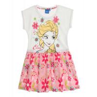 Letné dievčenské šaty Disney Frozen biele