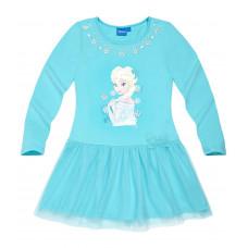 Šaty s dlhým rukávom Disney Frozen modré