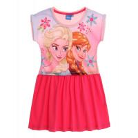 Letné dievčenské šaty Disney Frozen ružové
