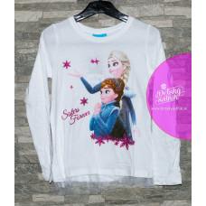Disney tričko Elsa a Anna biele
