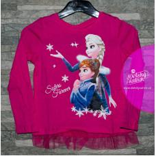 Disney tričko Elsa a Anna ružové