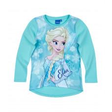 Dievčenské dlhé tričko Disney Ľadové kráľovstvo modré