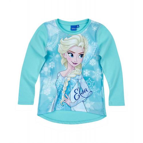 c9ee515663 Dievčenské dlhé tričko Disney Ľadové kráľovstvo modré ...