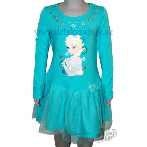 fb276e427495 ... Šaty s dlhým rukávom Disney Frozen modré