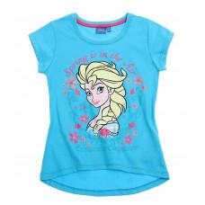 Tričko Disney Elsa s krátkym rukávom modré