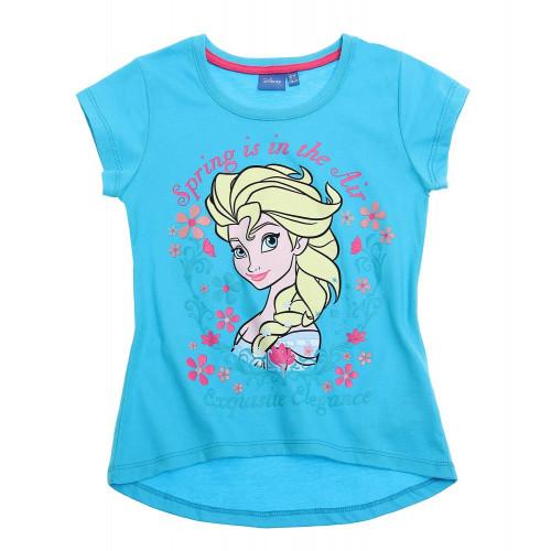 9ac2af7a23 Tričko Disney Elsa s krátkym rukávom modré ...