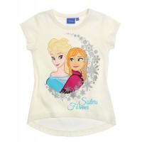 Tričko Disney Frozen s krátkym rukávom smotanové