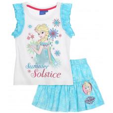 Letný dievčenský set Disney Frozen modrý
