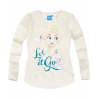 Tričko dievčenské Disney Ľadové kráľovstvo biele