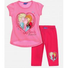 Letný dievčenský set Disney Frozen ružový