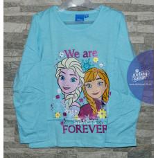 Modré Disney tričko Elsa a Anna