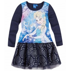 Šaty s dlhým rukávom Disney Frozen tmavé