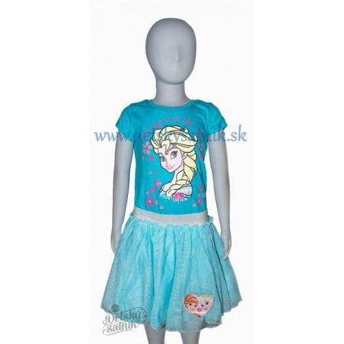 14b24c4ac3 ... Tričko Disney Elsa s krátkym rukávom modré