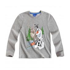 Tričko chlapčenské Disney Olaf s dlhým rukávom šedé