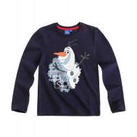 Tričko chlapčenské Disney Olaf s dlhým rukávom tmavo modré