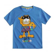 Tričko Garfield s krátkym rukávom modré