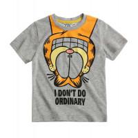Tričko Garfield s krátkym rukávom šedé