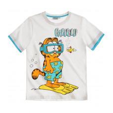 Tričko Garfield biele s krátkym rukávom č.128