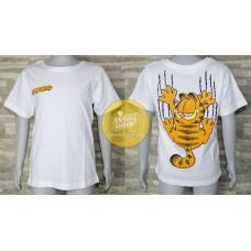 Tričko Garfield s krátkym rukávom biele