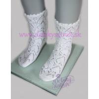 Háčkované ponožky so srdiečkovým vzorom