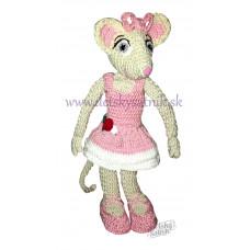 Háčkovaná myška balerína