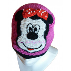 Detská háčkovaná čiapka Myška