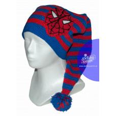 Detská zimná čiapka s brmbolcom Spiderman
