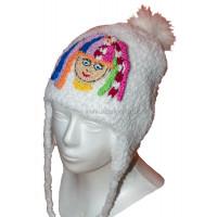 Huňatá detská čiapka s farebným škriatkom