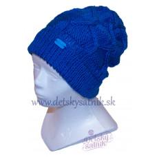 Detská pletená čiapka krížený vzor