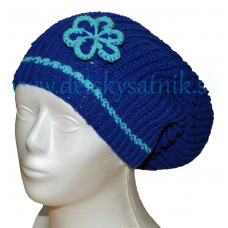 Detská čiapka predĺžená modrá