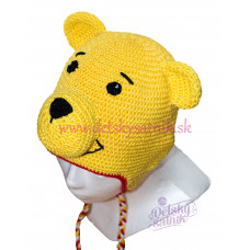 Detská háčkovaná čiapka s mackom