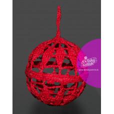 Háčkovaná vianočná guľa červená