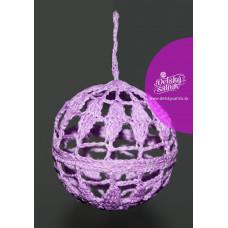 Háčkovaná vianočná guľa fialová