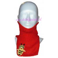 Detský pletený nákrčník včielka
