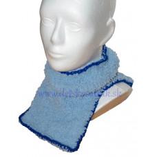 Detský huňatý nákrčník modrý
