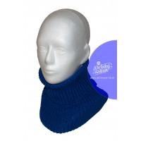 Detský pletený nákrčník modrý